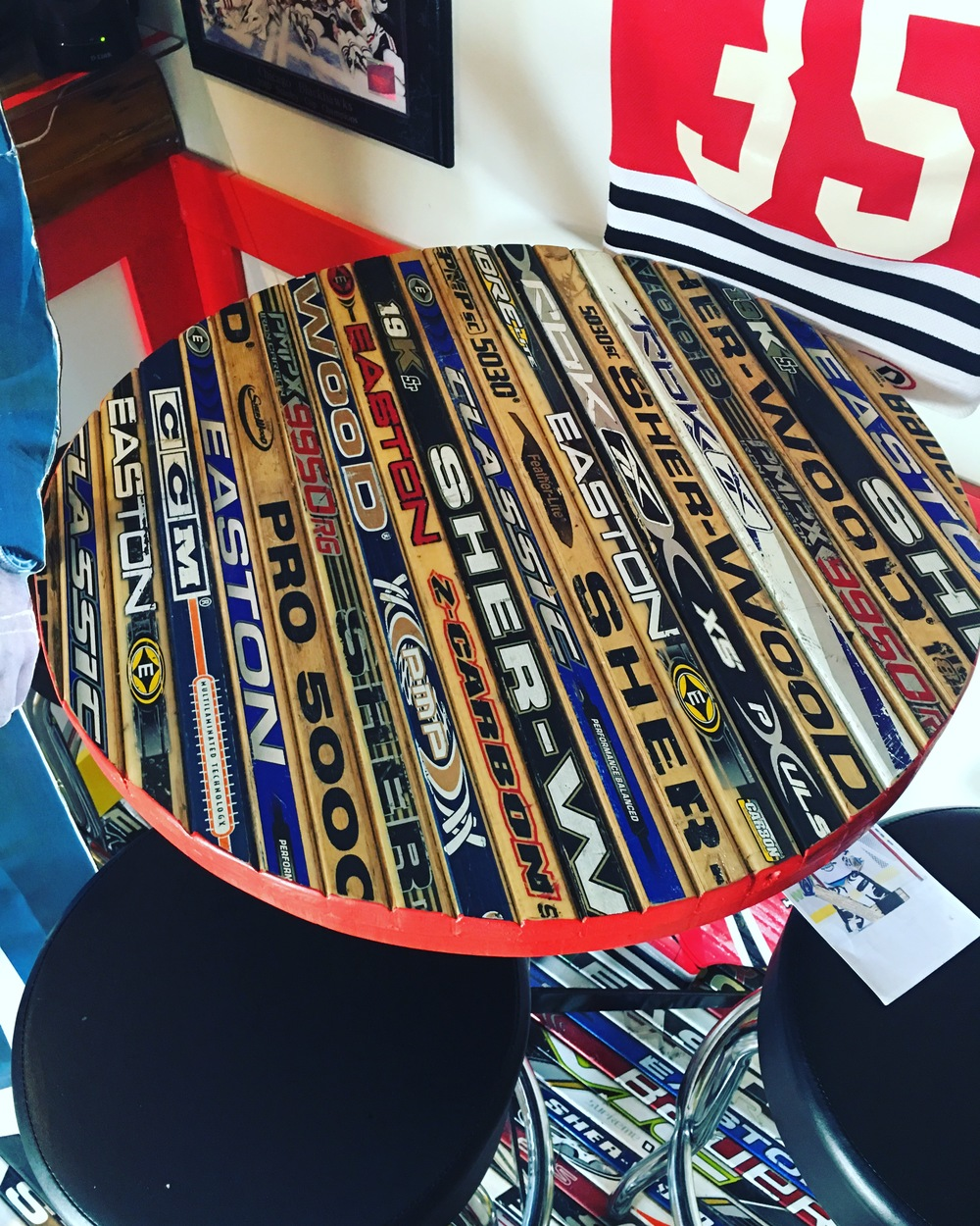 Hockey Stick Table