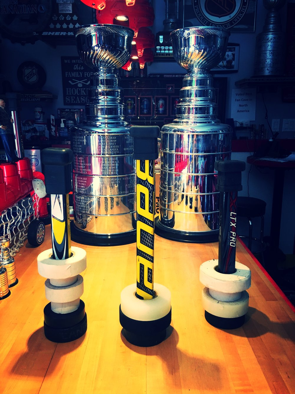 Eliminates Wasted Time Looking for Tape  - Our handmade Tape Towers keep your hockey tape organized in your bag.Holds 10 rolls of hockey stick, sock, electrical, duct, painters etc,,Each Tape Tower is one-of-a-kind and made from broken sticksEliminates wasted time searching your bag for tape