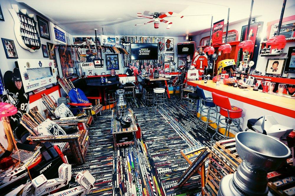 Man Cave Hockey Room : Hockey themed room bedroom idea for boys