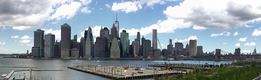 Manhattan skyline from Brooklyn, New York.