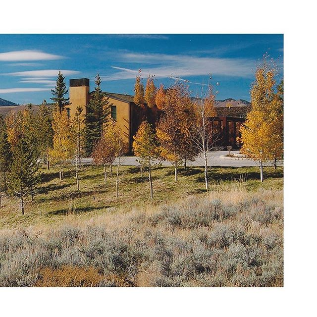 👈 See full post in profile for more on our Sun Valley Residence project. #sunvalley #fallcolors