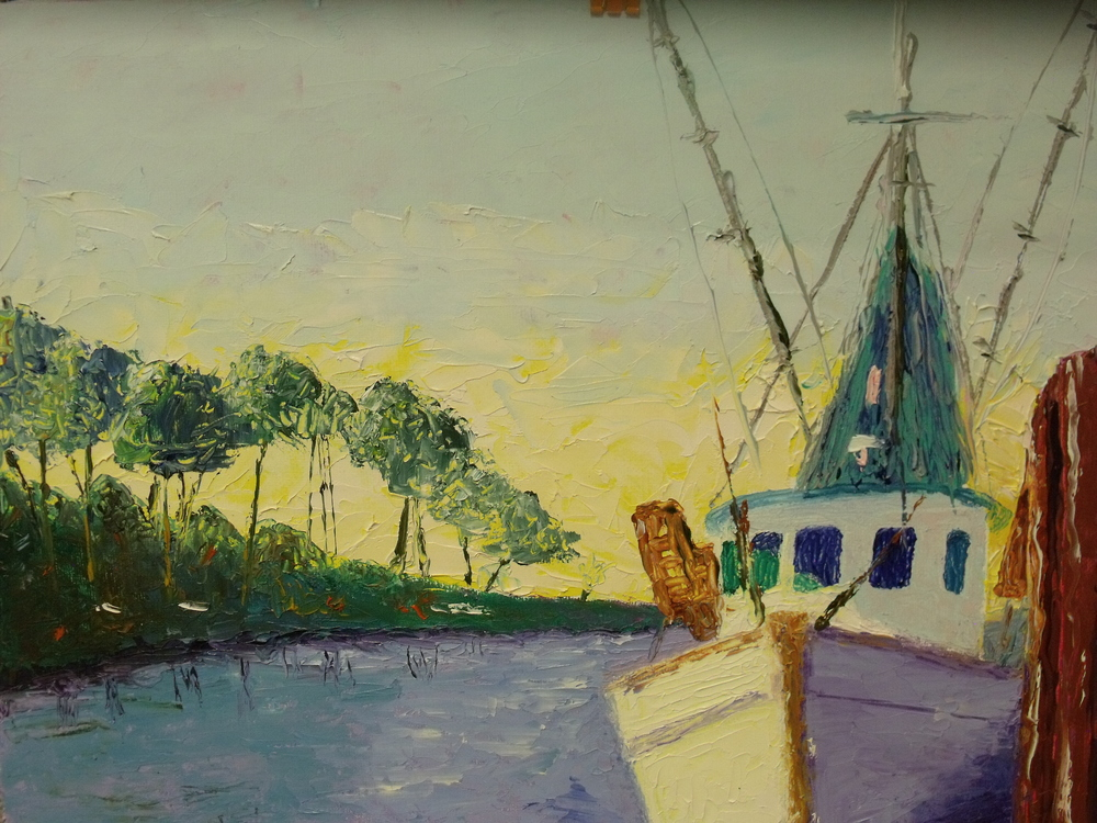 Trawler at Dock by Jane Gibbs  $120