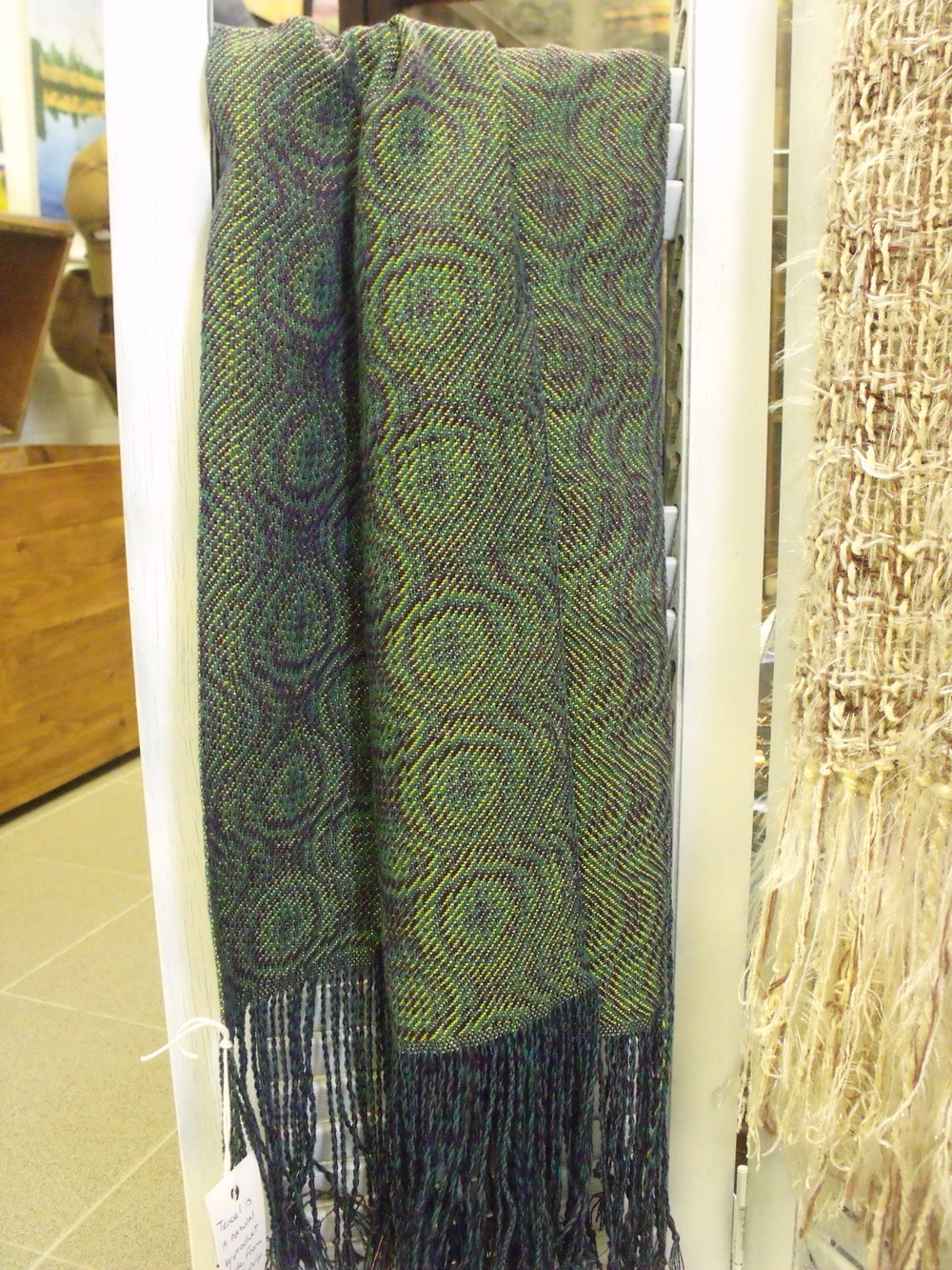 Peacock Scarf by Pat Bertke $85