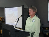 March 17, 2012 -  Judy McLawhorn, Secretary of the Friends of Hyde County's Historic 1854 Courthouse, welcomed some 50 regional artists and stakeholders attending the Arts Center Forum to discuss the feasibility of the Friends' goal to turn the old courthouse into an art space.