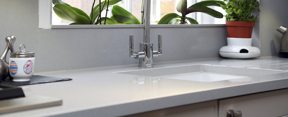 Free Sink + Tap set - Recommended Retail Price £350When any Solid Surface worktop is ordered before December 25th 2018.