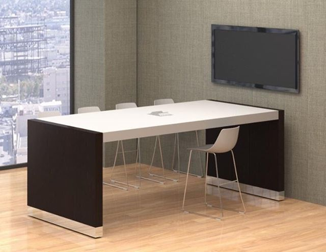 Love this simple, elegant desk from Nevers? Get in touch with us for pricing and delivery info! — #design #interiordesign #office #officefurniture #lookoftheday #sleek #modern #commercialfurniture #commercialinteriors #desks #desk #workspace #worklife inspiration #designinspiration