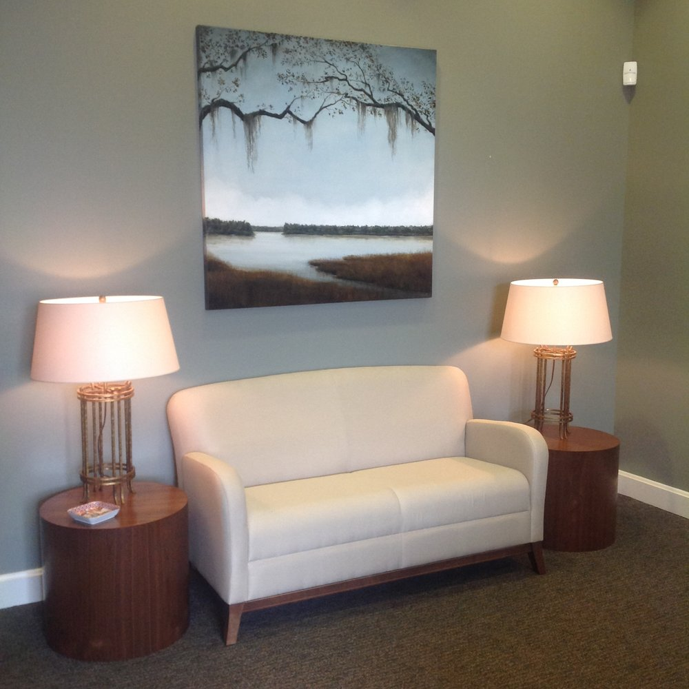 van kirk wealth management waiting room, gulfport, mississippi