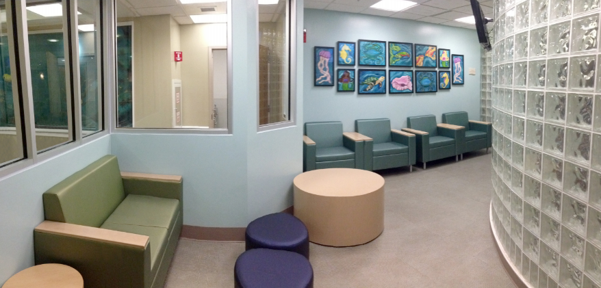 Memorial hospital children's e.r. waiting room