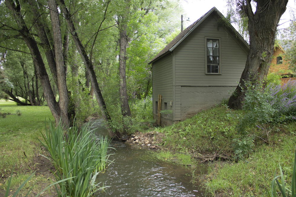 "The ""studio"" residence along the creek."
