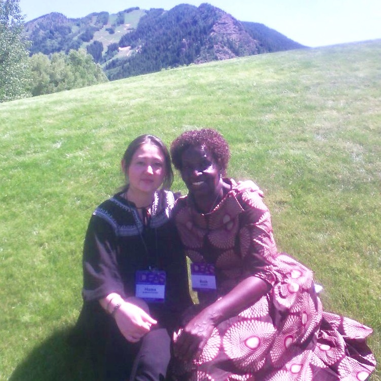 Aspen Ideas Fest, Huma Fouladi (WHW 2017 Award recipient) and Ruth Oching