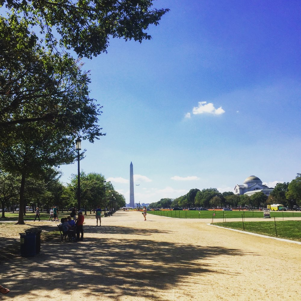 Running on the National Mall, Washington, D.C.