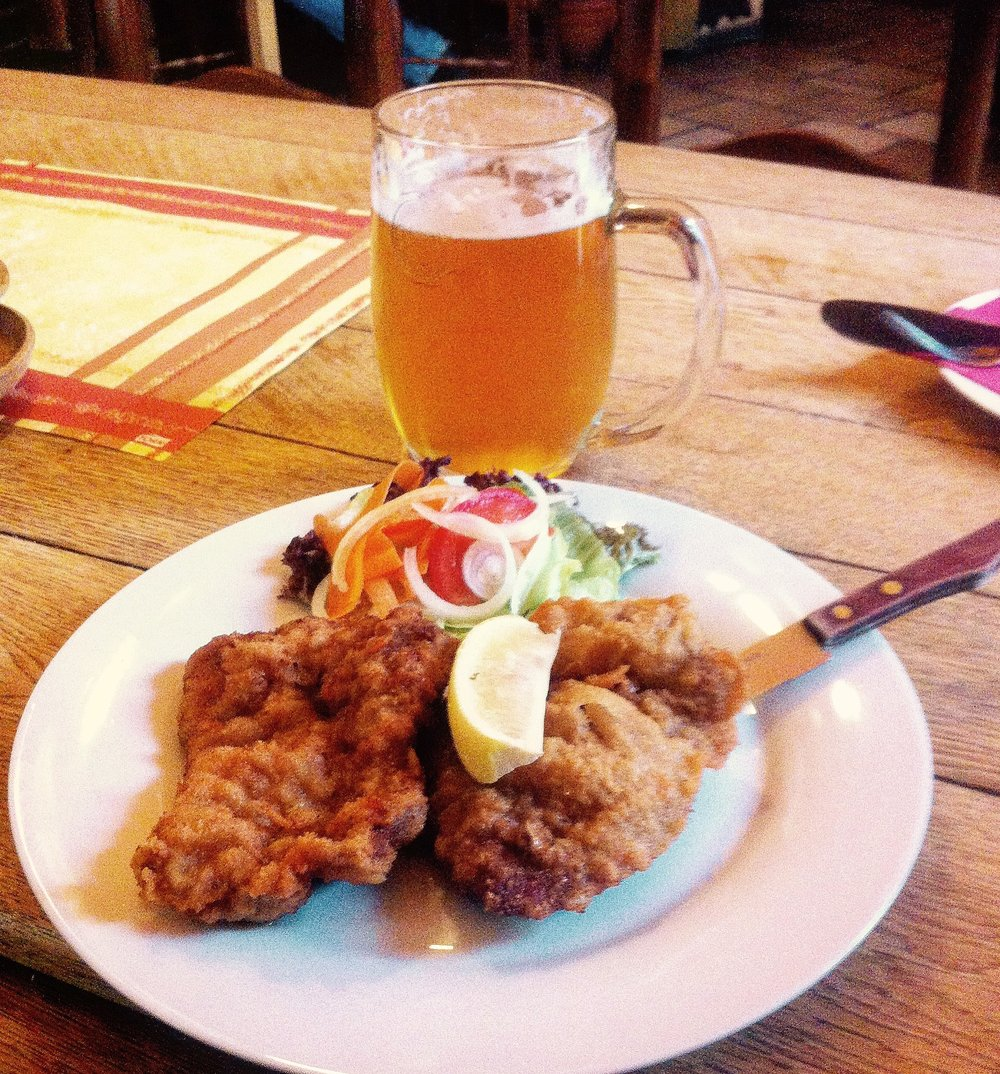 Schnitzel and a Pilsner Urquell in Prague? Czech.