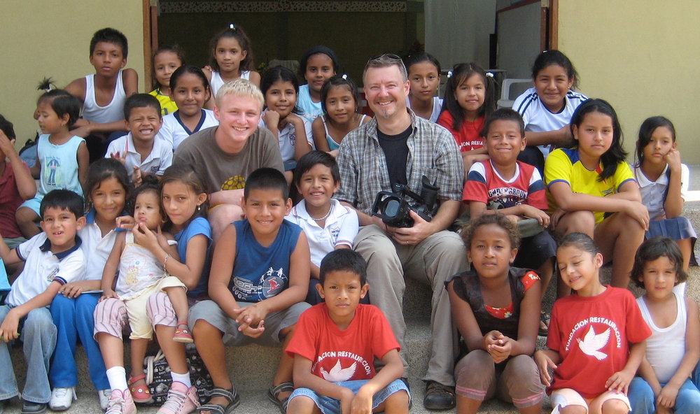 Mike & his son, Zack, on a video training project in Ecuador.