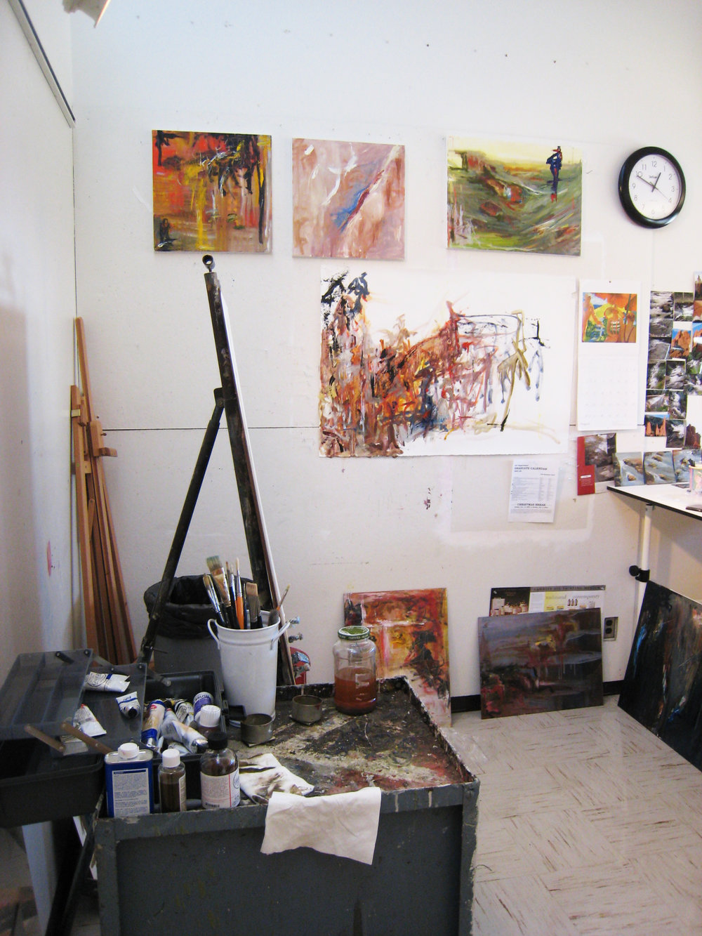 My studio in my first graduate program at Eastern Illinois University (August '07).  © 2007-2018 Kathryn Neale Studio