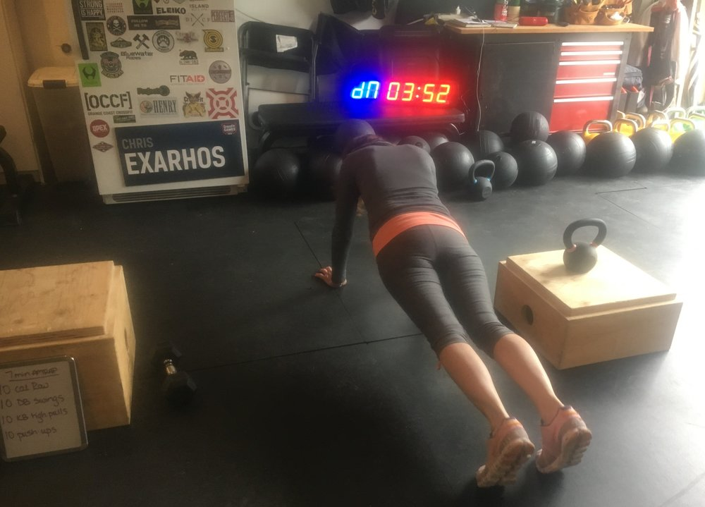 Edie showing off a good plank position