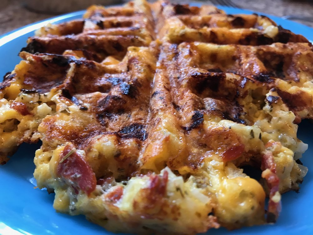 Pizza Waffle for dinner