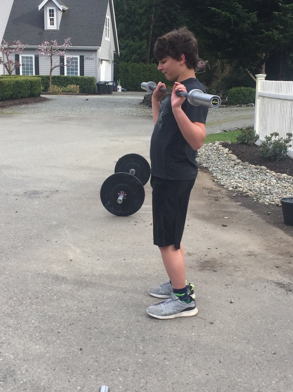 Clayton working on some hang power cleans