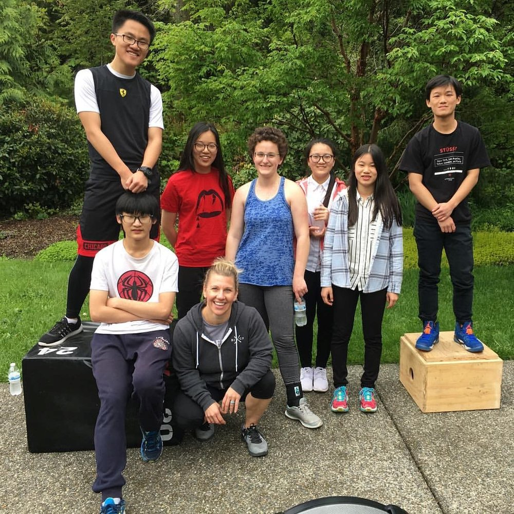 West Sound Academy takes a field trip to Bainbridge Island CrossFit