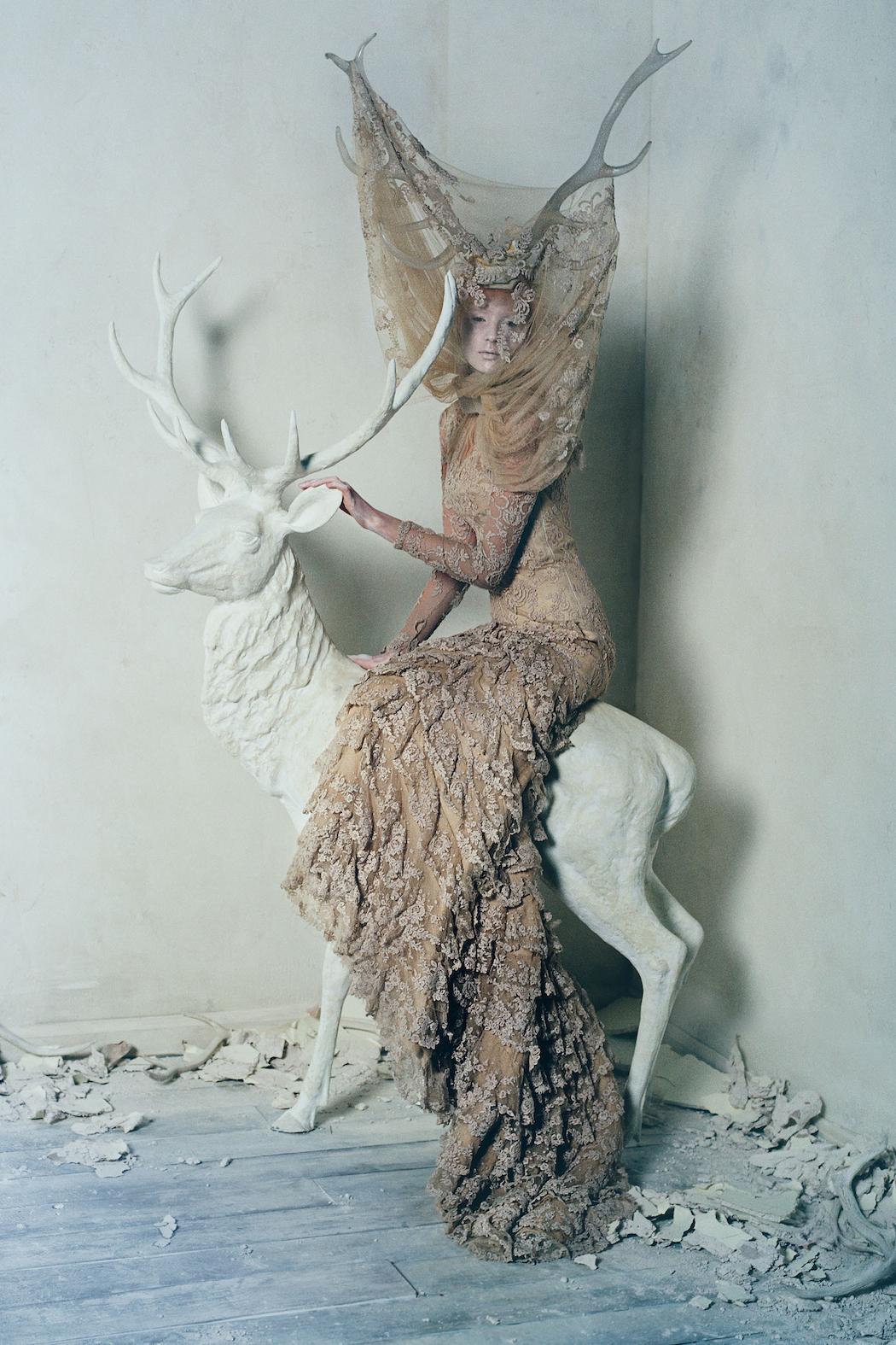 Dark Angel:McQueen Feature Models- Aya Jonaes, Xiao Wen Ju, Harleth Kuusik, Yumi Lambert & Nastya Sten Photographer- Tim Walker Stylist- Kate Phelan01