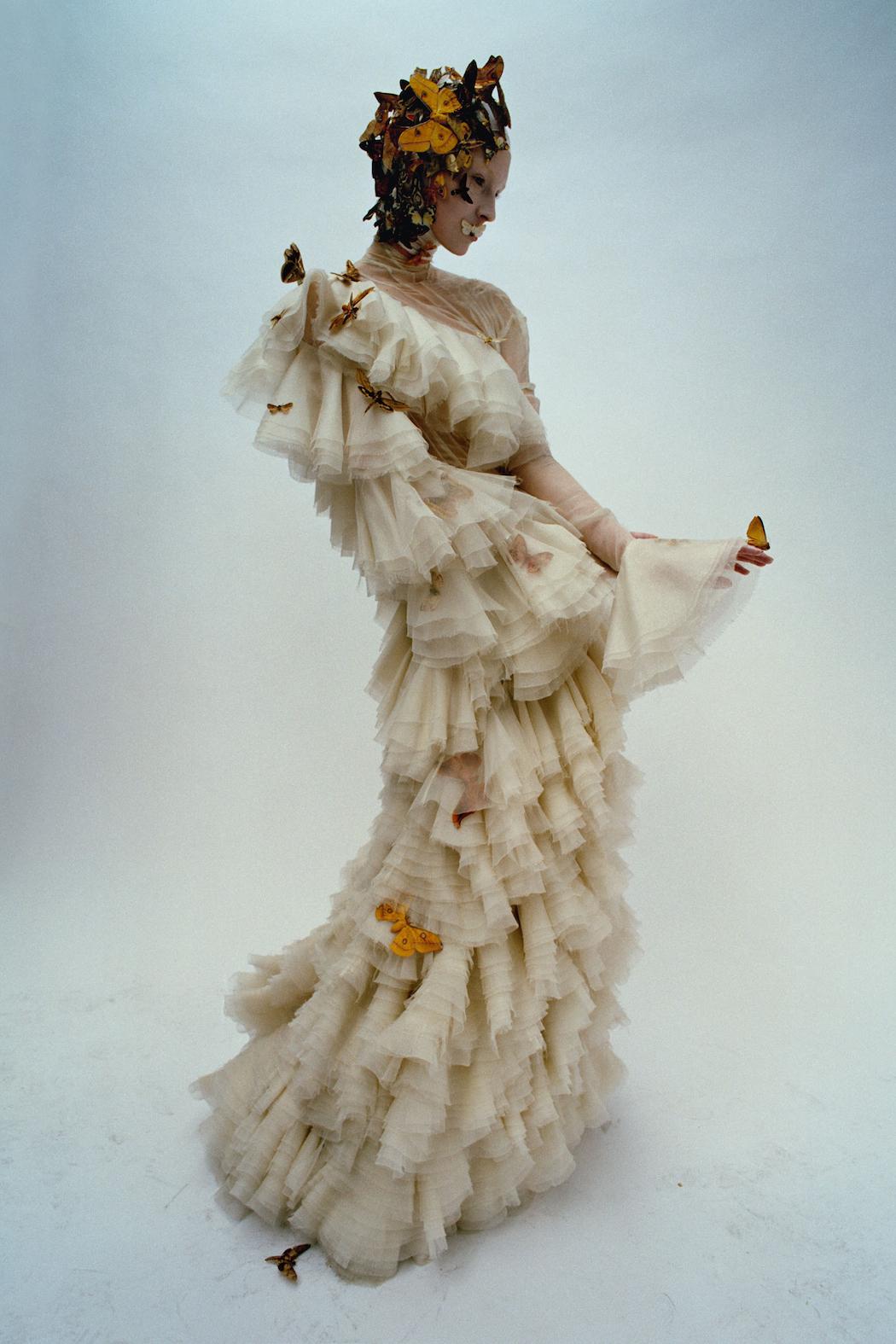 Dark Angel:McQueen Feature Models- Aya Jonaes, Xiao Wen Ju, Harleth Kuusik, Yumi Lambert & Nastya Sten Photographer- Tim Walker Stylist- Kate Phelan05