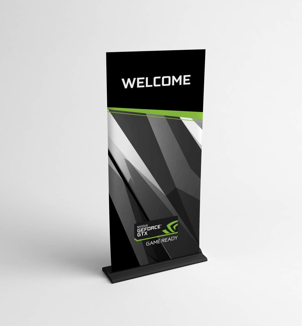 Geforce Pascal standing banner