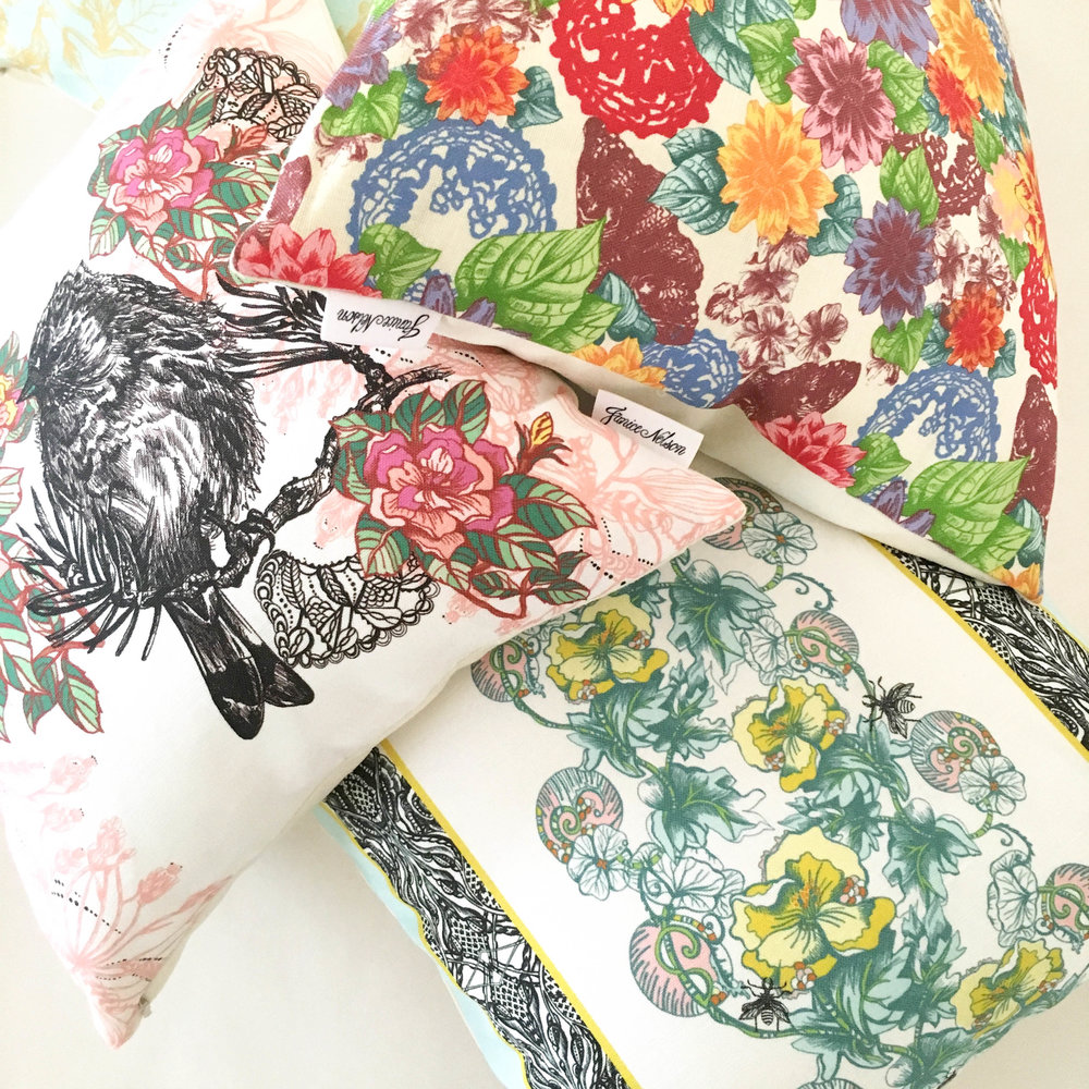 Janice Nelson Made in USA pillow medley
