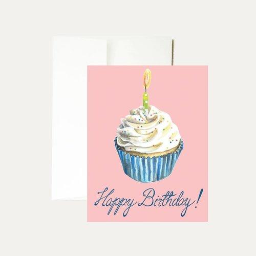 Janice Nelson Designs Birthday Cupcake Greeting Card