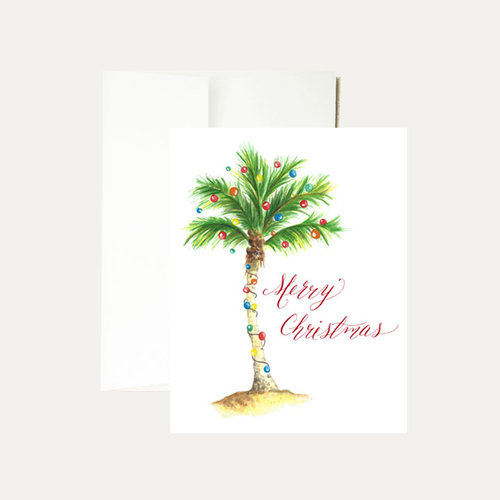 Janice Nelson Designs Palm Tree Christmas Card
