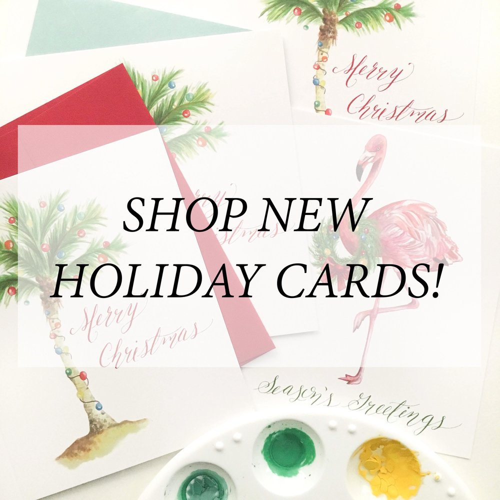 Shop our new colorful watercolor holiday card collection!
