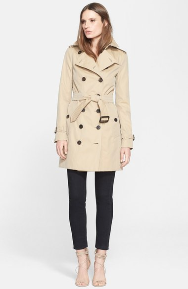 Burburry London 'Sandringham' Slim Trench Coat