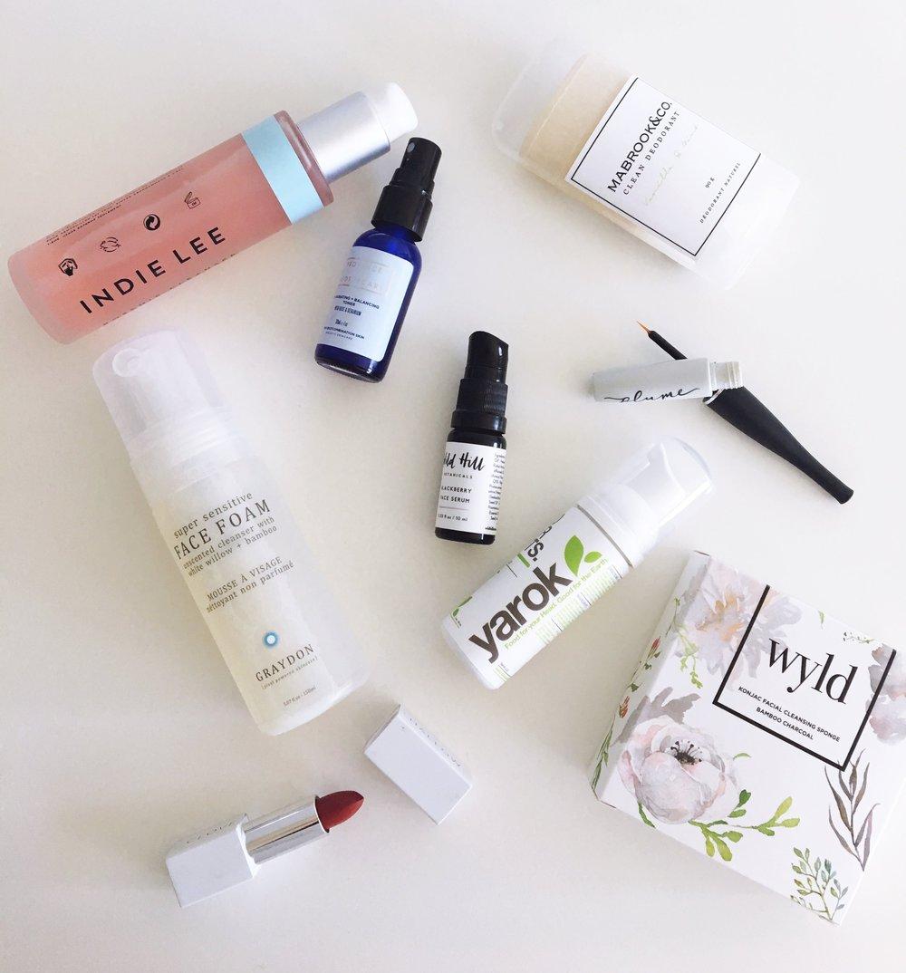 Natural Beauty Brands Flatlay