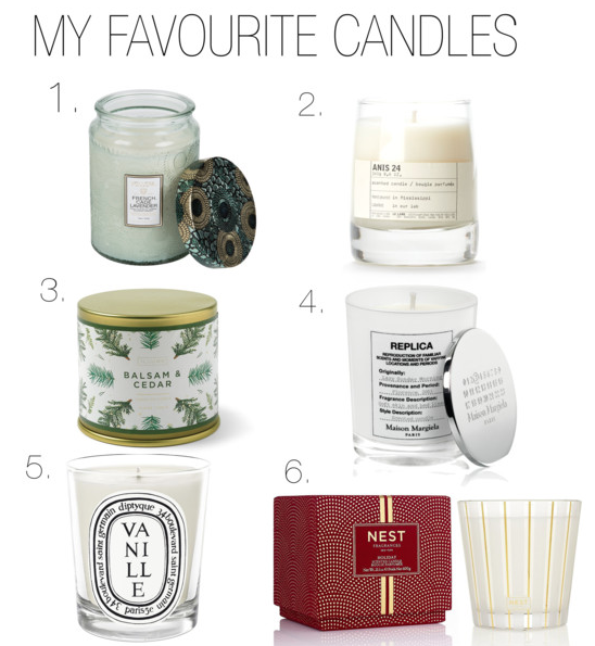 My favourite Candles
