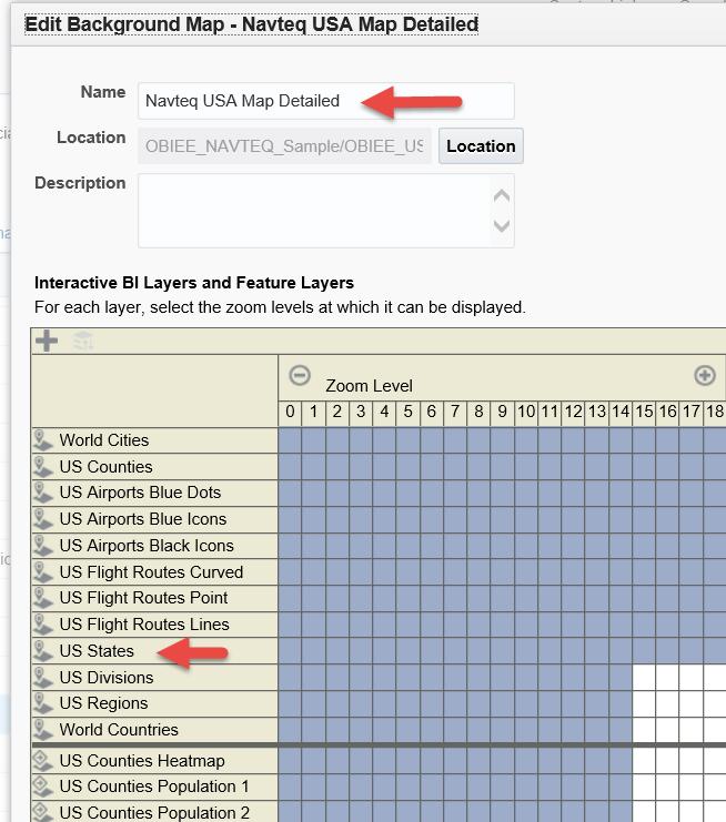 Part Map Basics Vlamis Software Solutions - Us map interactive edit