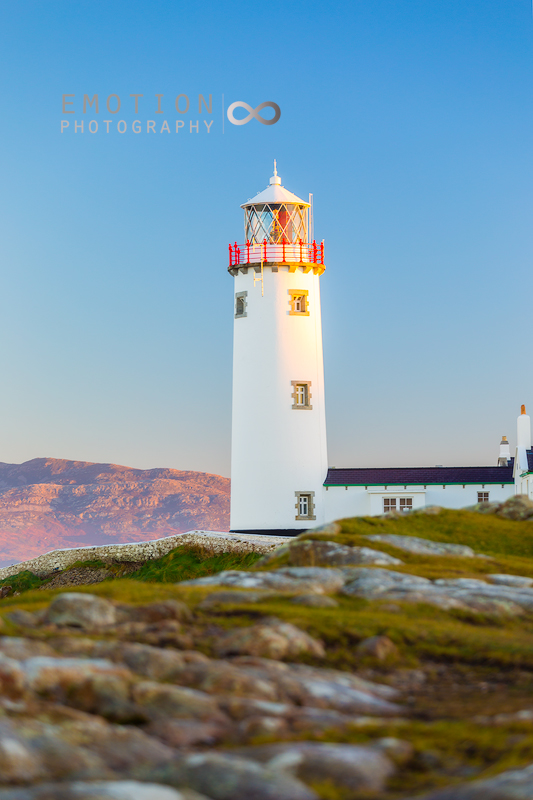 Evening light settling on Fanad Lighthouse, Donegal, Ireland.