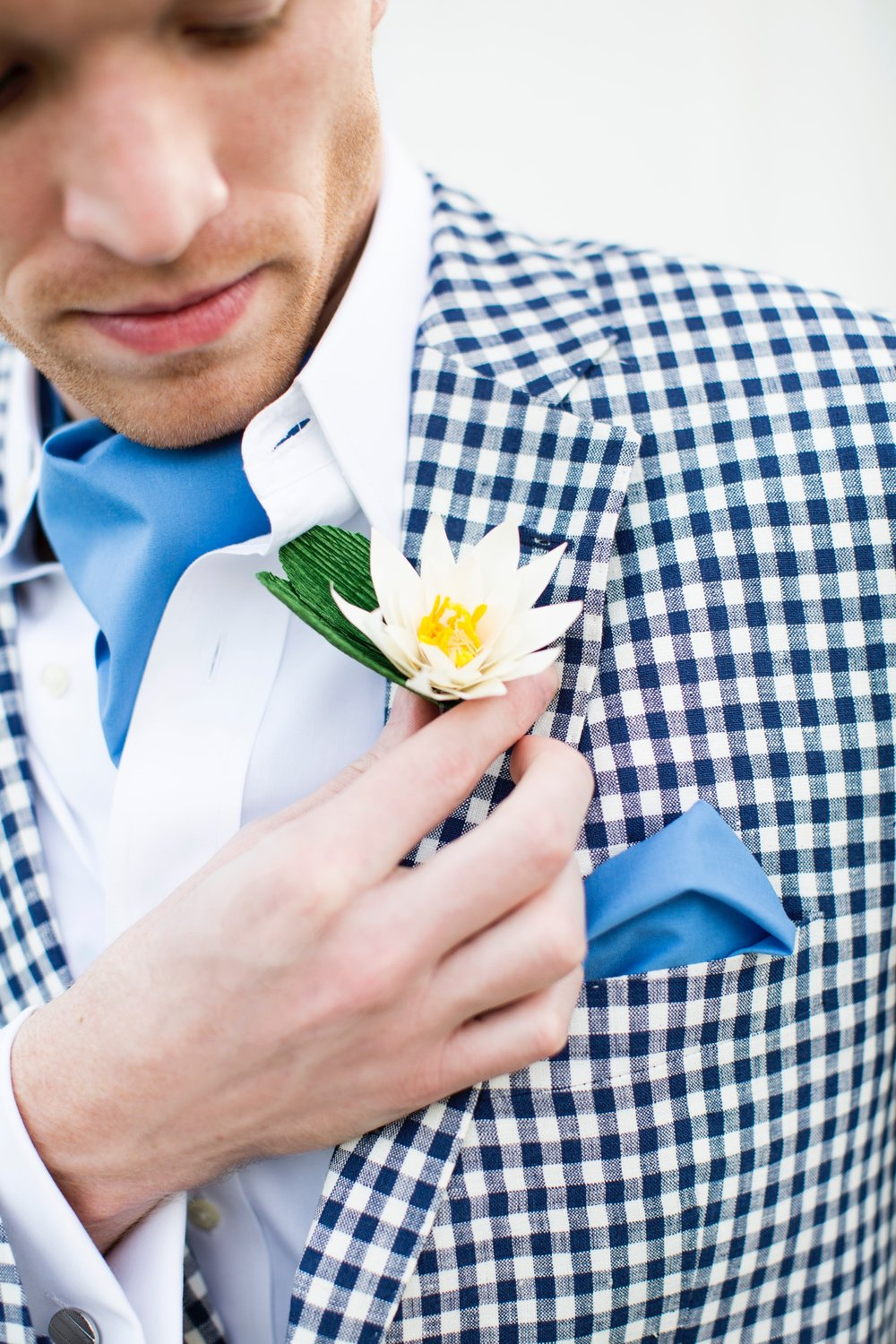 Water Lily Boutonniere