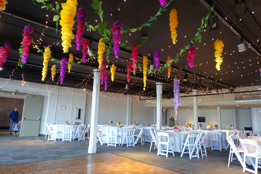 Dance Floor Hanging Flowers