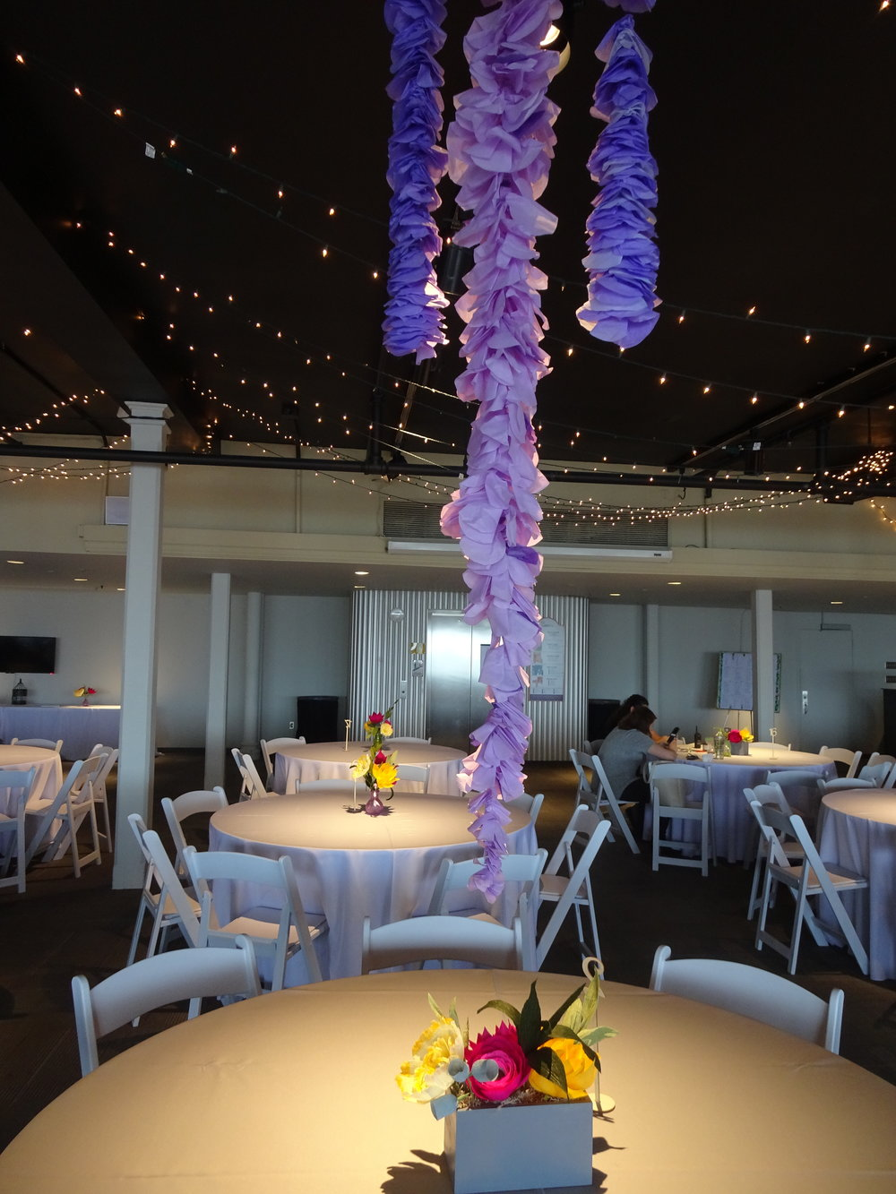 Bridal Table Centerpieces and Wisteria