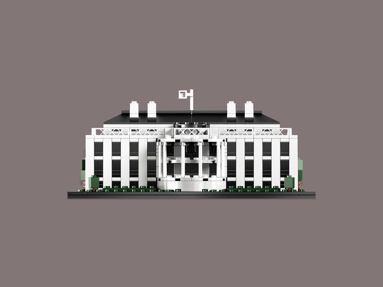 lego architecture white house (21006) — brick design store