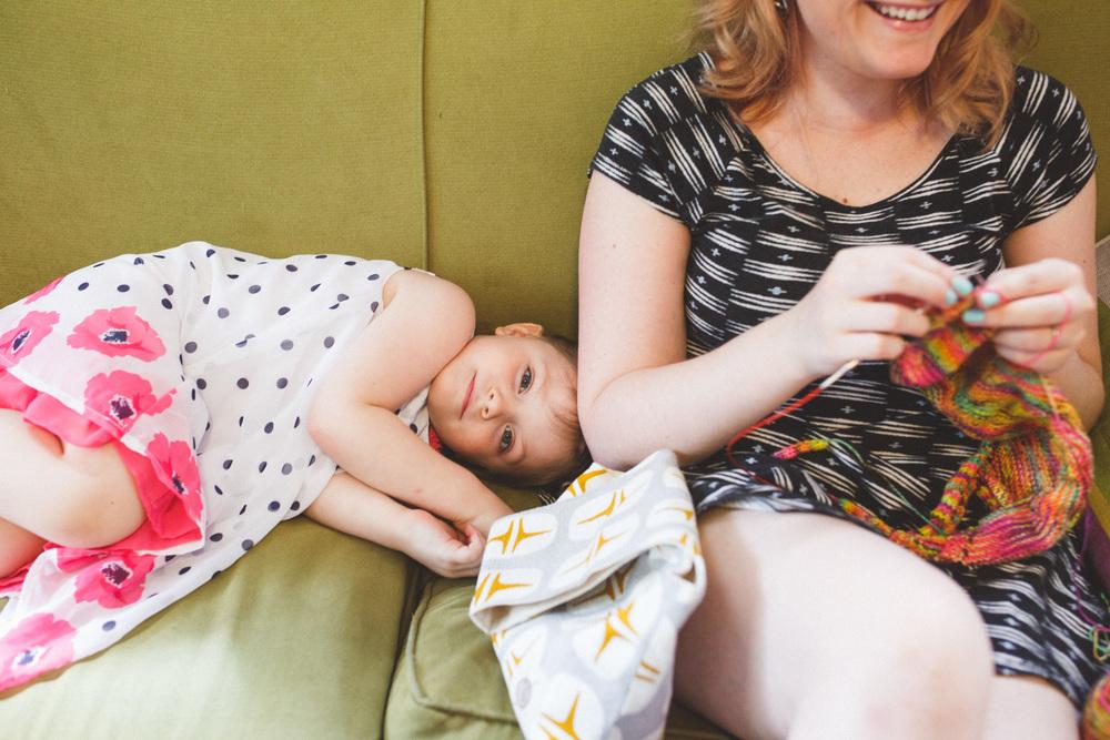 Little girl resting.