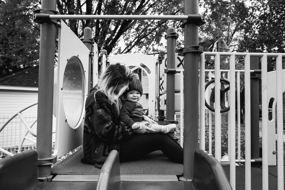 Playing at the park. Royal Oak Family Photographer. Detroit Family Photographer.