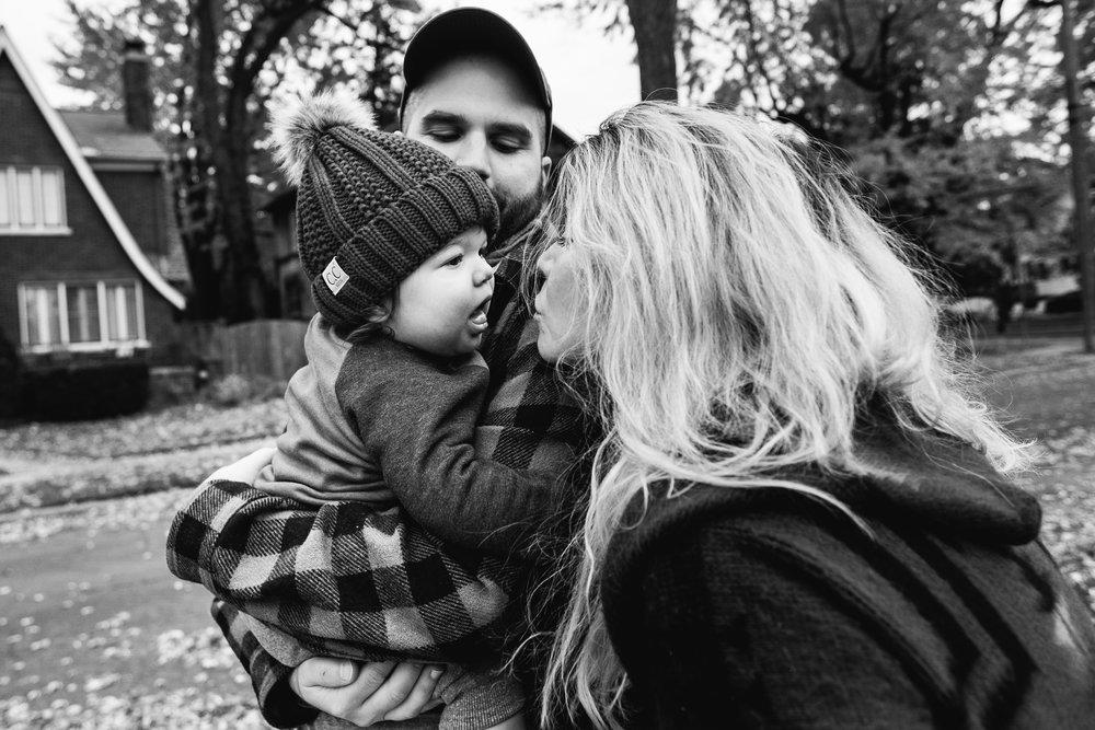 Baby kisses. Royal Oak Family Photographer. Detroit Family Photographer.