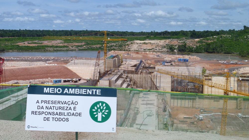 Sinop dam construction, Mato Grosso, Brazil
