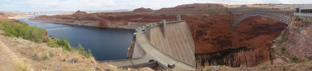 Glen Canyon and Dam on the Colorado River