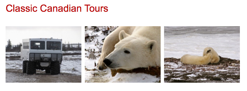 Classic Canadian Tours Client Adventures