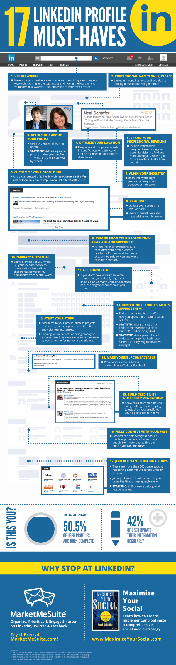 LinkedIn Profile Optimization infographic