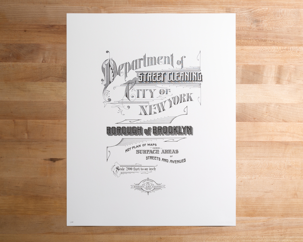 Street Sweeping Nyc Map.Brooklyn Street Cleaning 1909 Anchor Editions