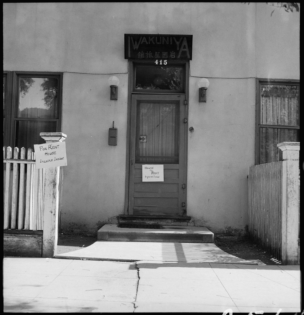Sacramento, California. Rooming House in the Japanese section of town. Photograph taken two days before evacuation.