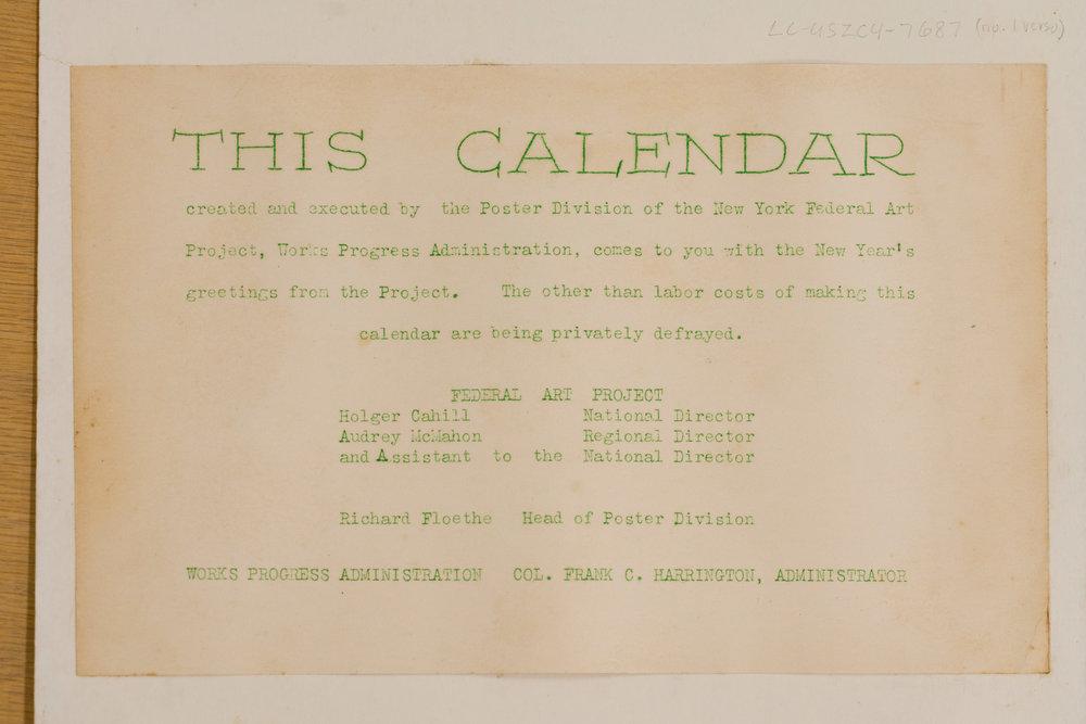 Original Calendar: Insert