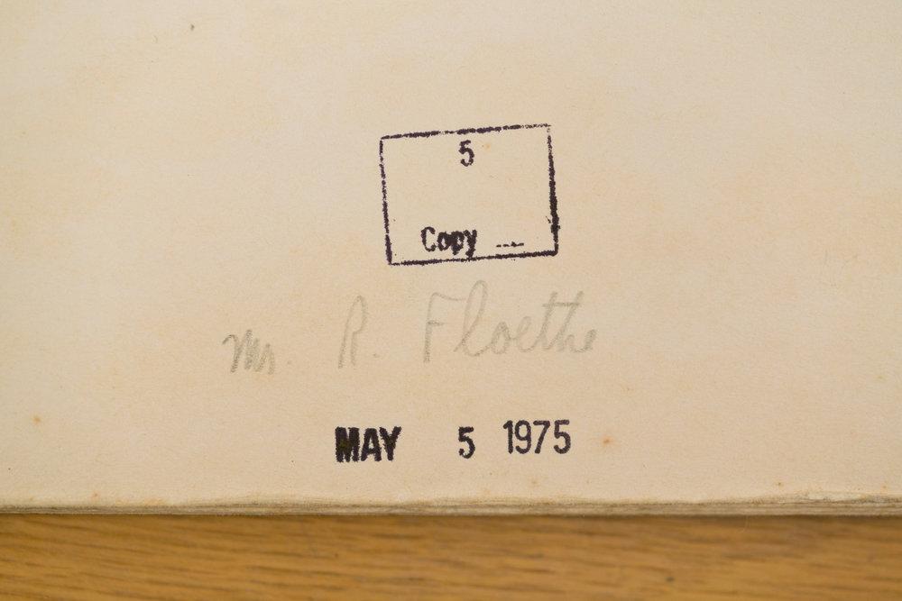Original Calendar: Richard Floethe Signature