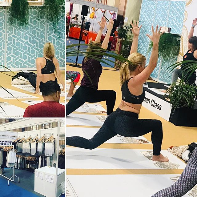 Loving seeing our criss cross bra top in action at the #teaindia open class @omyogashow  Amazing prices come and see us on stand C1 ❤️Let us focus on your style so you can focus on your fitness ! #yogisofinstagram #yoguh #yoguhlondon #mumsinbusiness #yogastyle #makingithappen